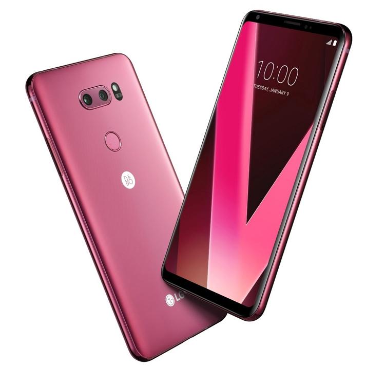 """Смартфон LG V30 предстал в розовом цвете Raspberry Rose"""""""