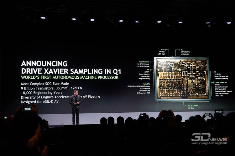 n2 - CES 2018: дебют платформы NVIDIA DRIVE Xavier для самоуправляемых автомобилей