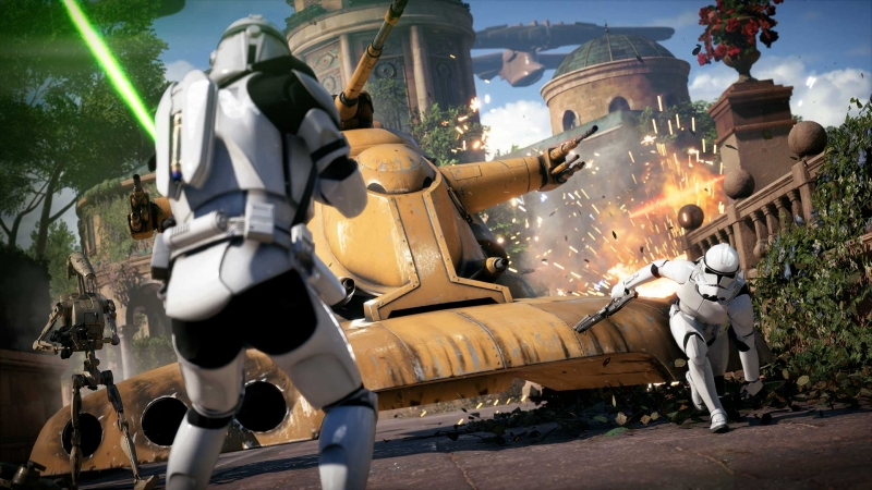 Despite the balance problems, online battles in Battlefront 2 are still impressive
