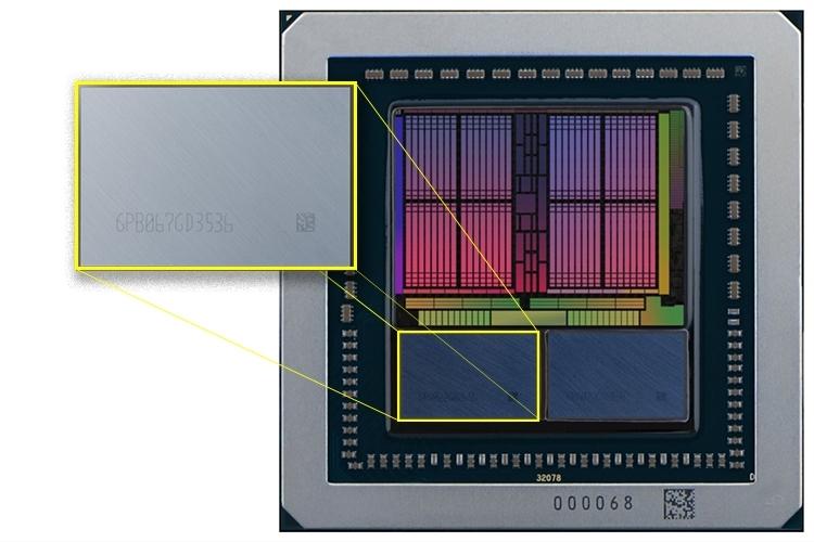 Изображение GPU AMD Vega с двумя 8-Гбайт чипами Samsung HBM2 первого поколения