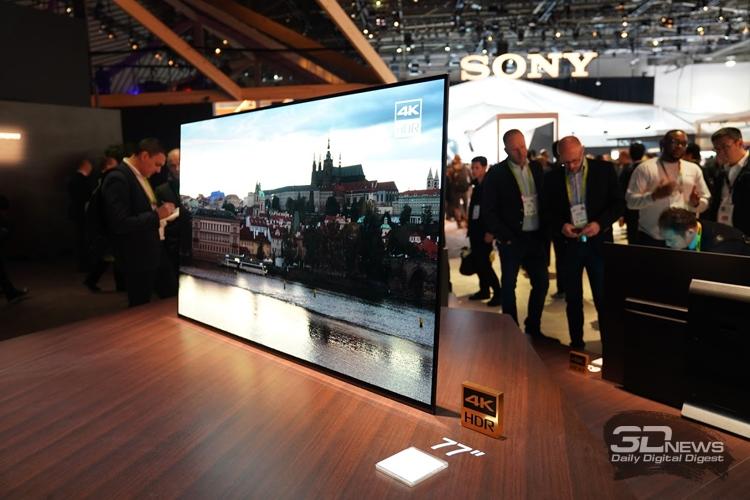 """CES 2018: телевизоры, камеры и смартфоны в экспозиции Sony"""""""