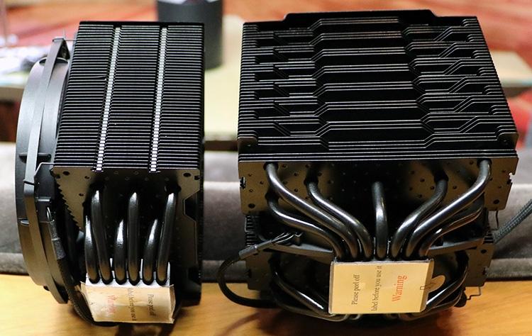 Тепловых трубок у Pro-версии семь, вентиляторы имеют разный диаметр — 120 и 135 мм