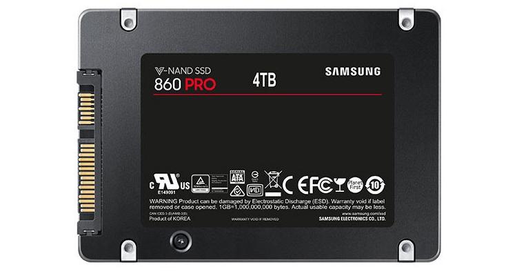 ssd2 - На сайте Samsung замечен SSD-накопитель 860 Pro ёмкостью 4 Тбайт