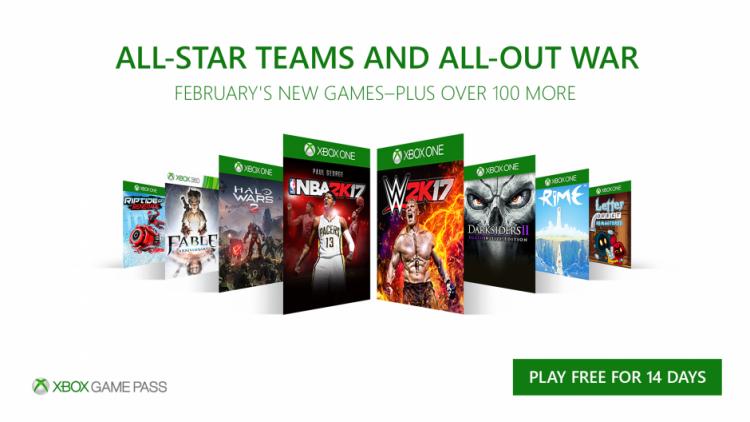 Пополнение Xbox Game Pass в феврале: Halo Wars 2, Darksiders 2: Deathinitive Edition, RiME и другие игры
