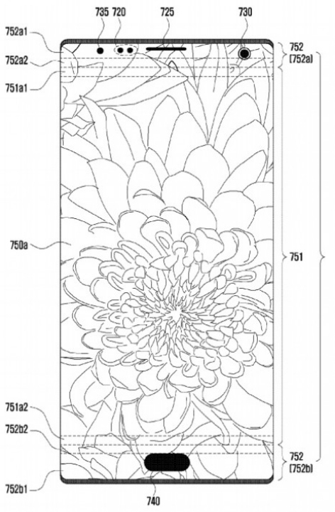 Samsung предлагает устанавливать селфи-камеру и датчики в области дисплея смартфонов