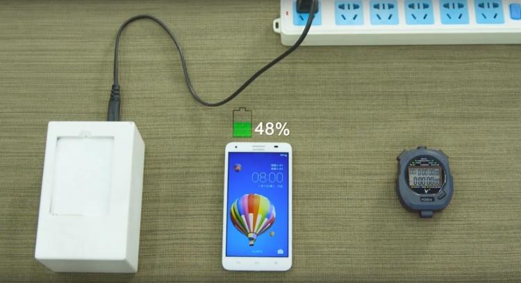 Технология Huawei позволит зарядить батарею смартфона до 48 % за 5 минут