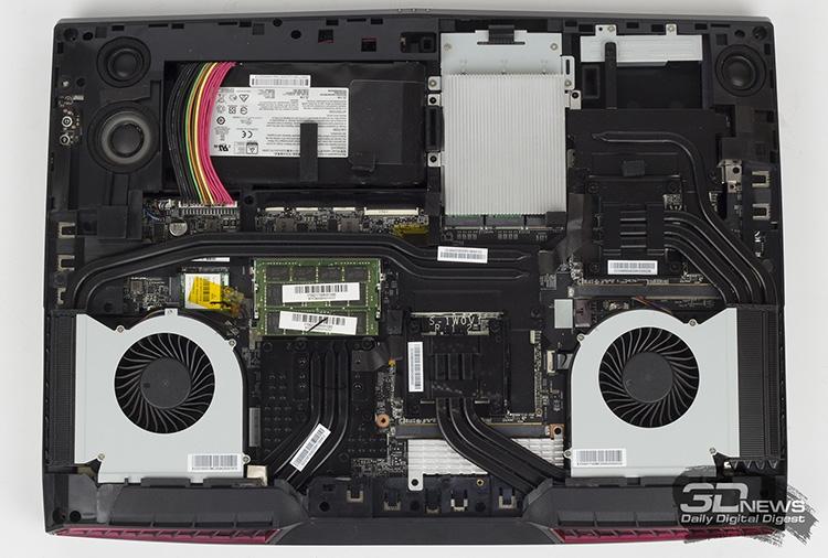 Система охлаждения ноутбука MSI GT75VR 7RE Titan SLI с процессором Core i7-7820HK на борту