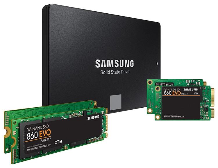 Самсунг представила твердотельные накопители 860 Pro и860 Evo