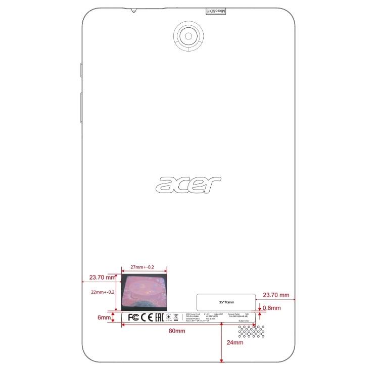 Acer готовит планшет Iconia One 8 (2018)