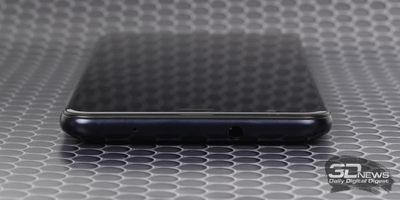 ASUS Zenfone Max Plus, верхняя грань: мини-джек для наушников/гарнитуры