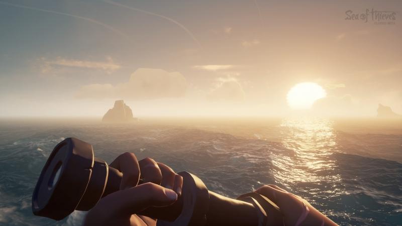 Что ни говори, а морские пейзажи в Sea of Thieves прекрасные