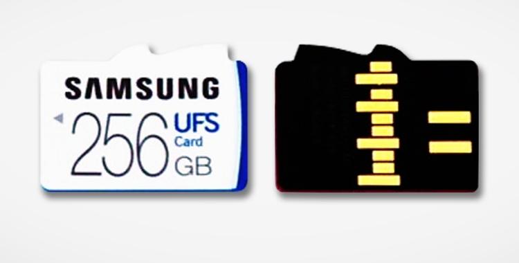 Карты памяти Samsung в формфакторе UFS (не совместимы с microSD)