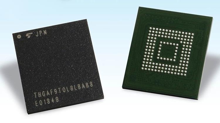 Однокорпусные SSD Toshiba с шиной UFS 2.0