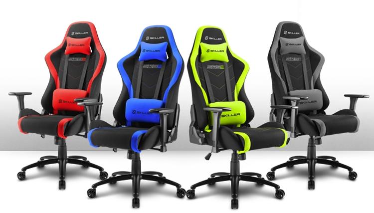 sh1 - Sharkoon Skiller SGS2: комфортное игровое кресло в четырёх вариантах расцветки