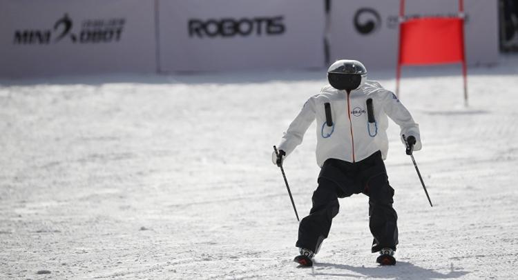 """В Южной Корее завершились первые соревнования роботов-лыжников"""""""