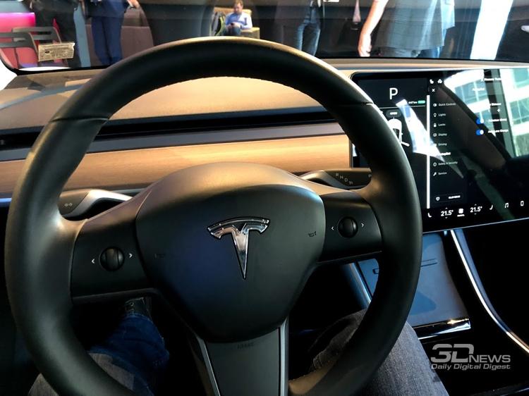 """В Москве состоялась презентация «народного» электромобиля Tesla Model 3"""""""