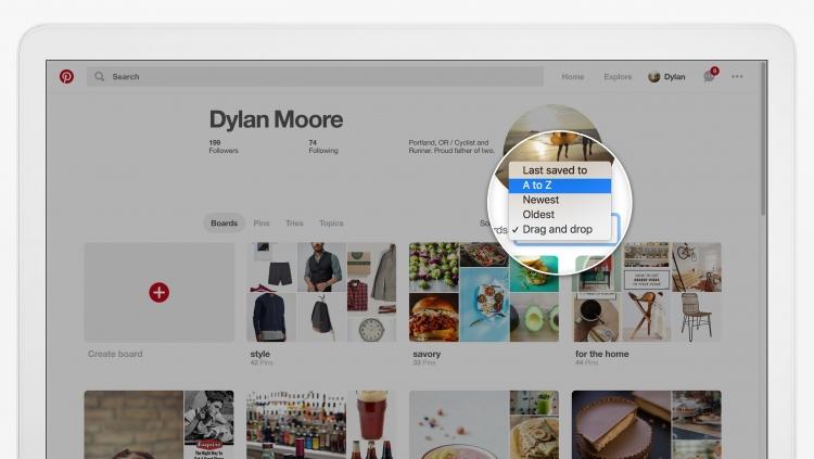 """В Pinterest теперь можно архивировать доски и изменять порядок пинов"""""""