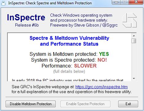 Защита от Meltdown есть, от Spectre нет. Производительность может быть пониженной.