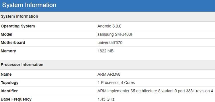 """Бенчмарк говорит о подготовке бюджетного смартфона Samsung Galaxy J4"""""""