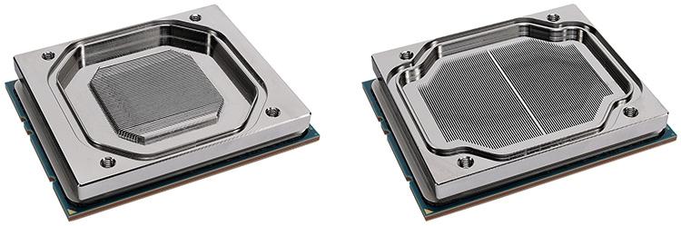 Первоначальный и доработанный (справа) варианты контактной пластины