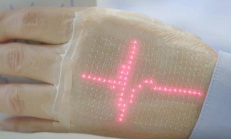 """Японские учёные продемонстрировали электронную кожу с LED-индикацией"""""""