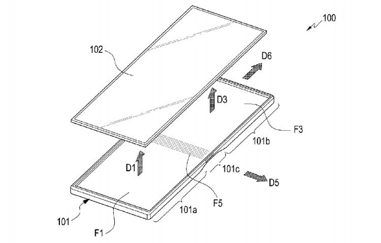 Samsung выдан очередной патент на гибкий смартфон