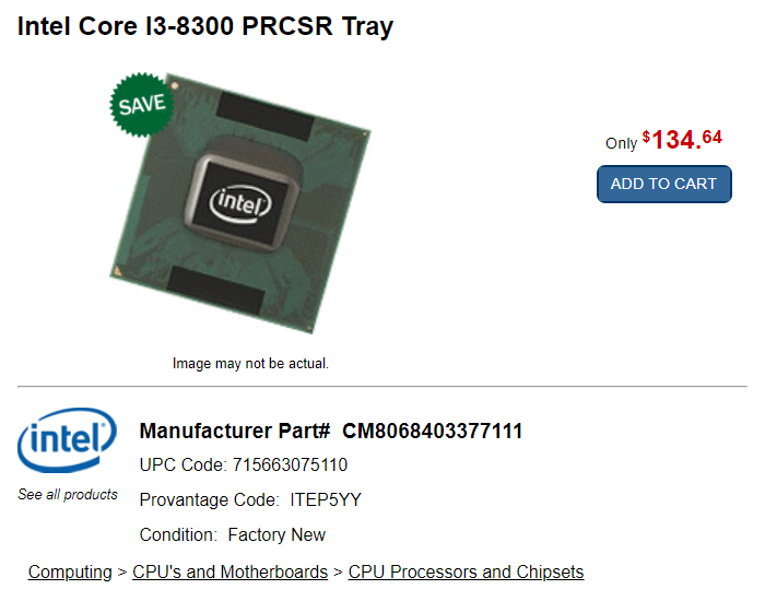 "За рубежом начались продажи новых CPU семейства Coffee Lake-S"""
