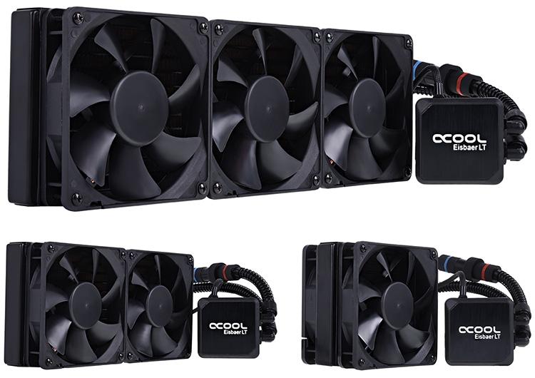 В семейство СЖО Eisbaer LT входят модели со 120-, 240- и 360-мм радиаторами