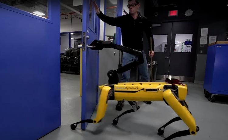 """Видео дня: как в Boston Dynamics пыталась помешать роботу открыть дверь"""""""