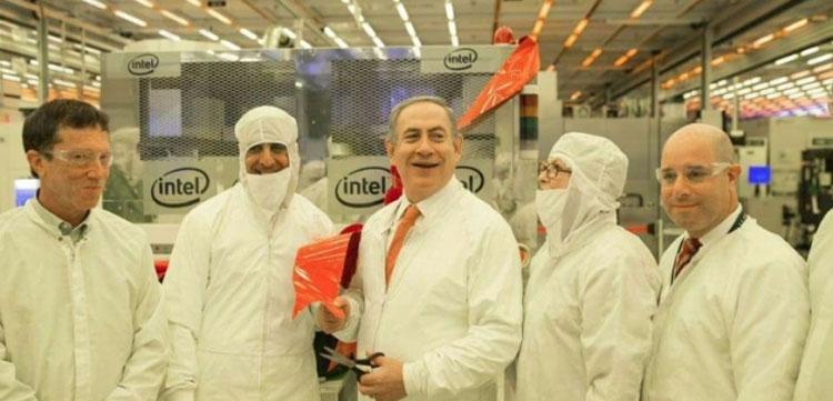 Премьер-министр Израиля открывает обновлённые линии на заводе Fab 28 (Photo: Kobi Gideon / Government Press Office, 2016)