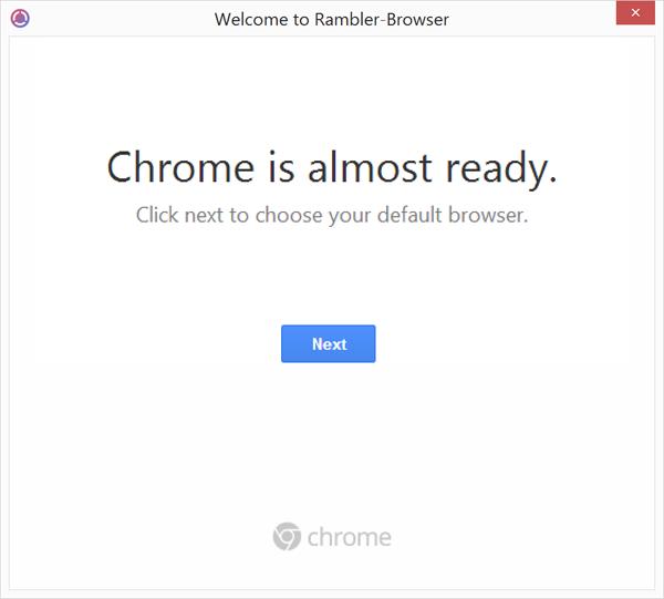 Инсталлятор «Рамблер/Браузера» путается в показаниях и при установке выдаёт себя за установщик Google Chrome