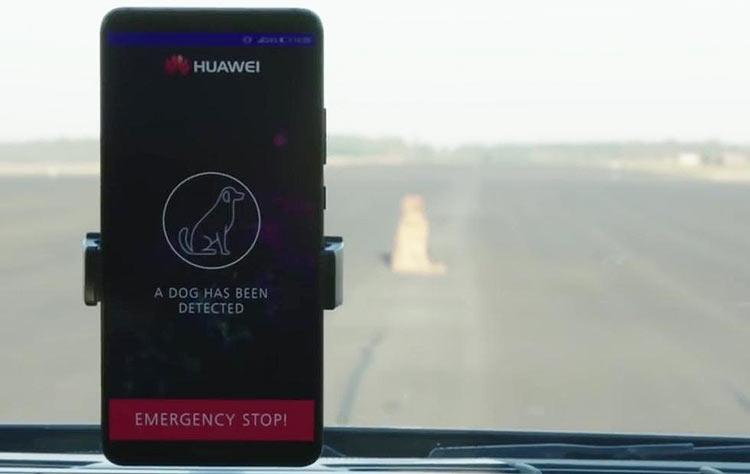"""Видео: ИИ в Huawei Mate 10 Pro управляет машиной и объезжает собак"""""""