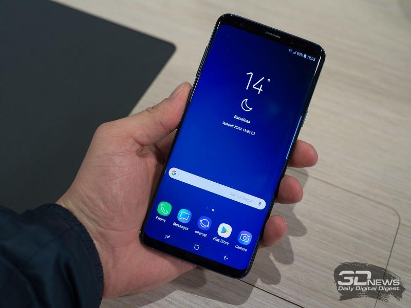Samsung Galaxy S9+ на выставке MWC 2018