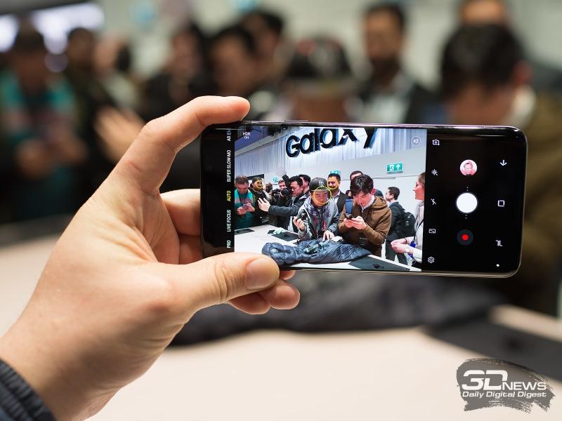 Samsung Galaxy S9+ в режиме съемки