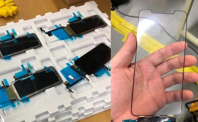 Якобы изображение защитного стекла для 6,5-дюймового iPhone с фабрики LG во Вьетнаме
