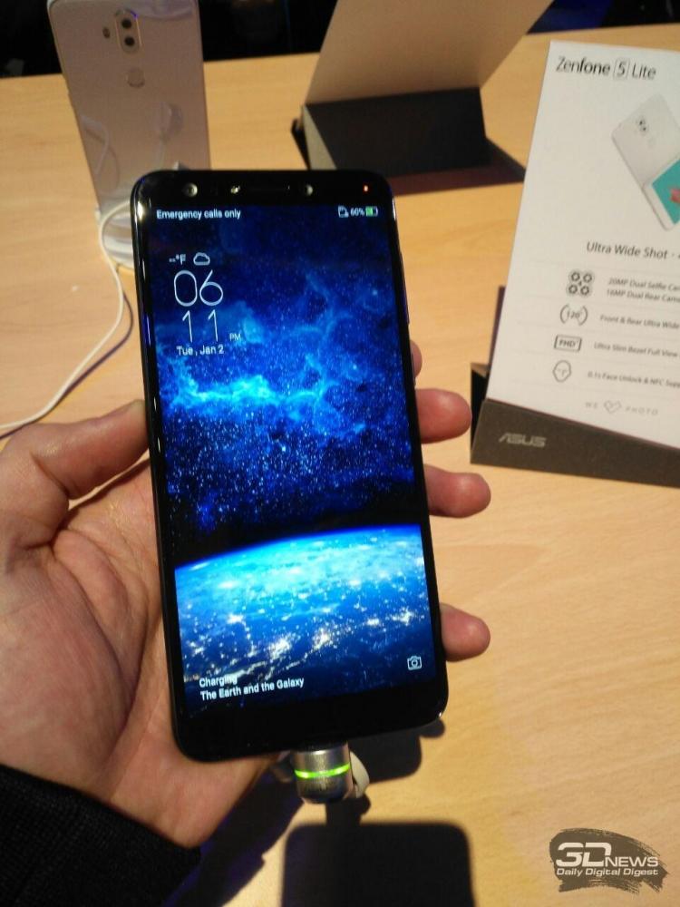 "MWC 2018: хет-трик от ASUS — смартфоны Zenfone 5 Lite,  Zenfone 5 и  Zenfone 5Z"""