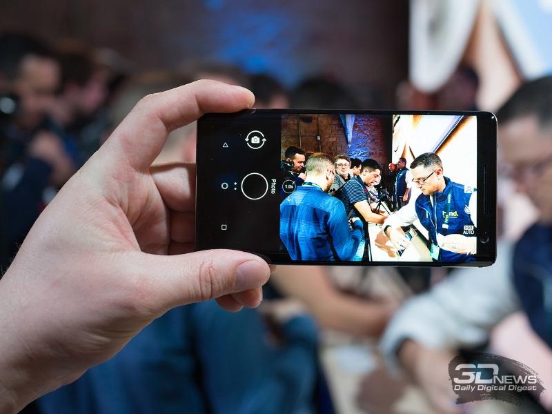 Nokia 8 Sirocco в режиме съемки