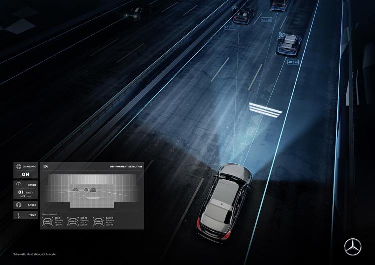 "Mercedes-Maybach S-Class станет первым автомобилем с «умными» фарами Digital Light"""