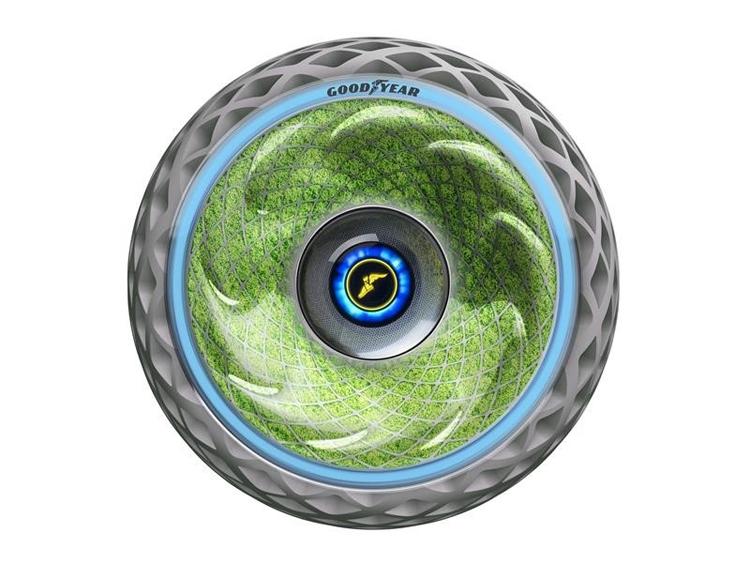 Концептуальные шины Goodyear Oxygene вырабатывают кислород