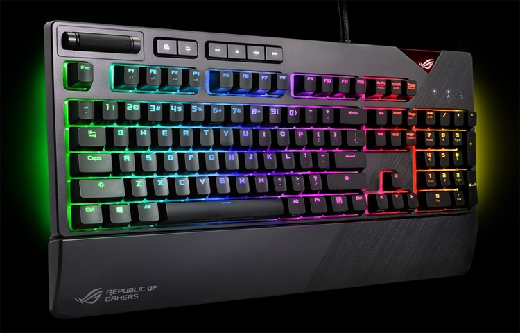 """Клавиатура ASUS ROG Strix Flare предлагает переключатели Cherry MX четырёх типов"""""""