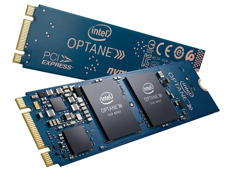 Накопители Intel Optane SSD 800P имеют вместимость 58 и 118 Гбайт