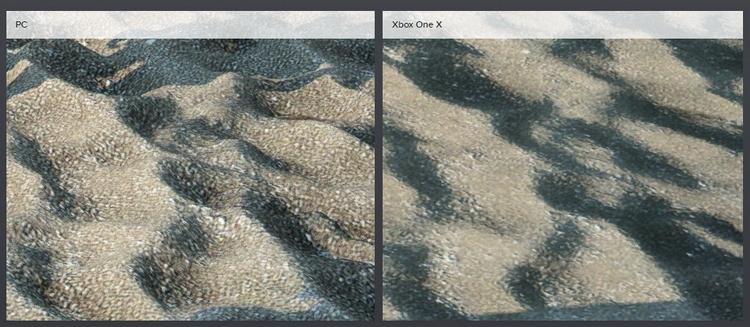 Уникальная возможность Geomapping добавляет слой тесселяции на такие элементы ландшафта, как песок, грязь и камни.