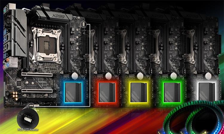 Подсветку чипсетного радиатора можно настроить по собственному вкусу