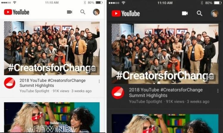 """В YouTube для iOS появилось тёмное оформление интерфейса"""""""