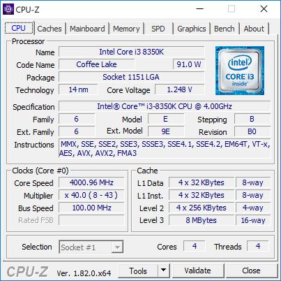 Core i3-8350K -