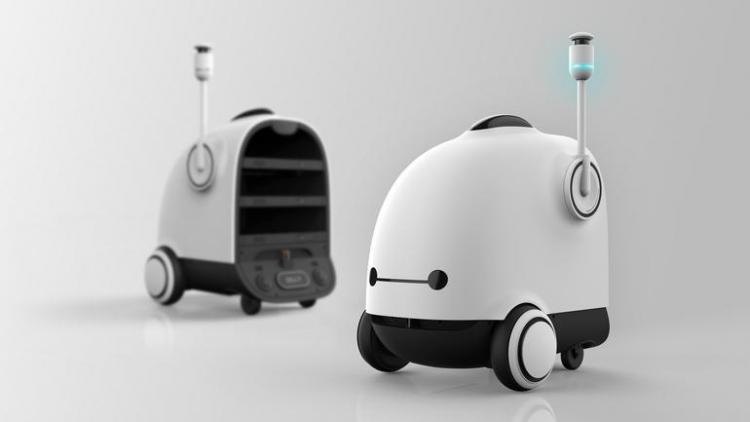 Корейская компания Woowa Brothers разработала робота для доставки еды клиентам