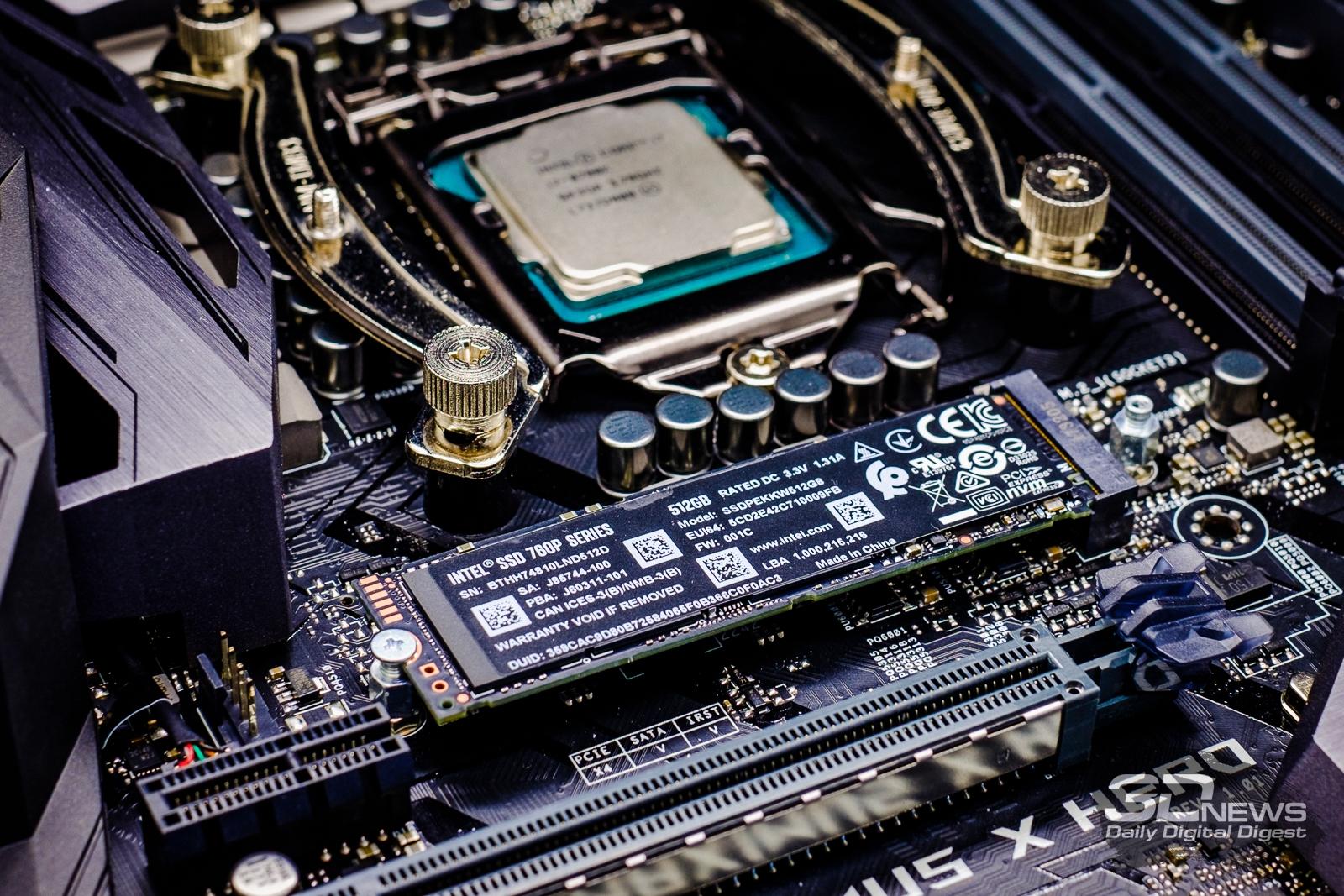 Обзор NVMe-накопителя Intel SSD 760p: вот давно бы так! / Накопители