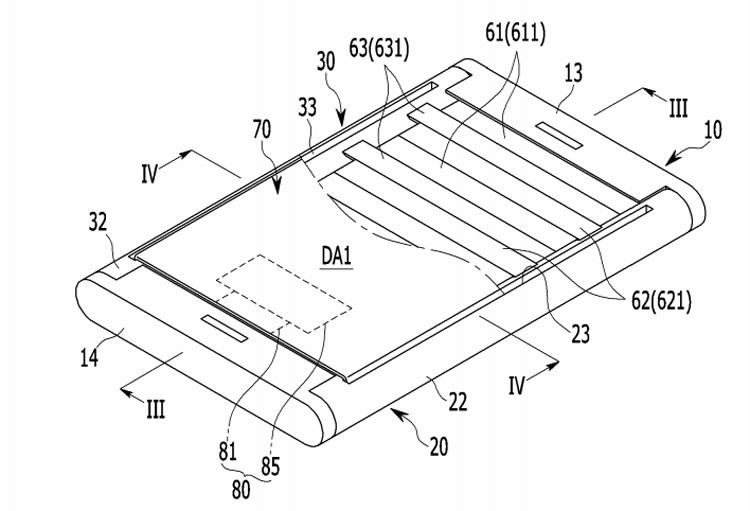 В Samsung придумали смартфон с раздвижным дисплеем