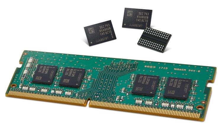 dram1 - Производство 16-Гбит кристаллов DDR4 стартует в третьем квартале