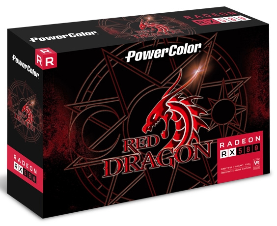 Упаковка видеокарты PowerColor Red Dragon Radeon RX 580